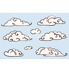 Drawn clouds simple Step a How to are