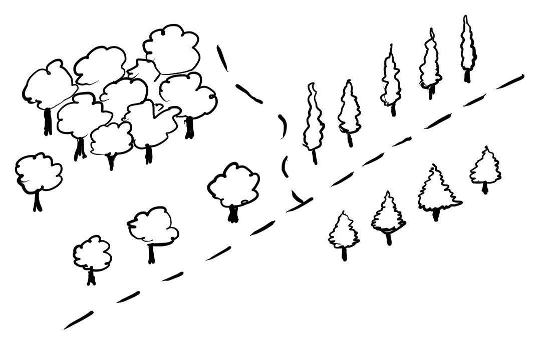Drawn clouds simple A three Draw Simple on