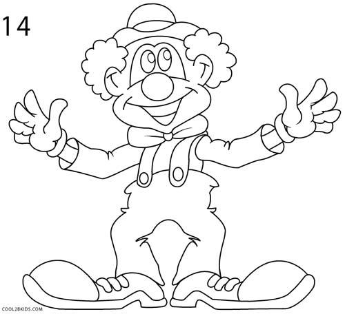 Drawn clown Clown How to a to