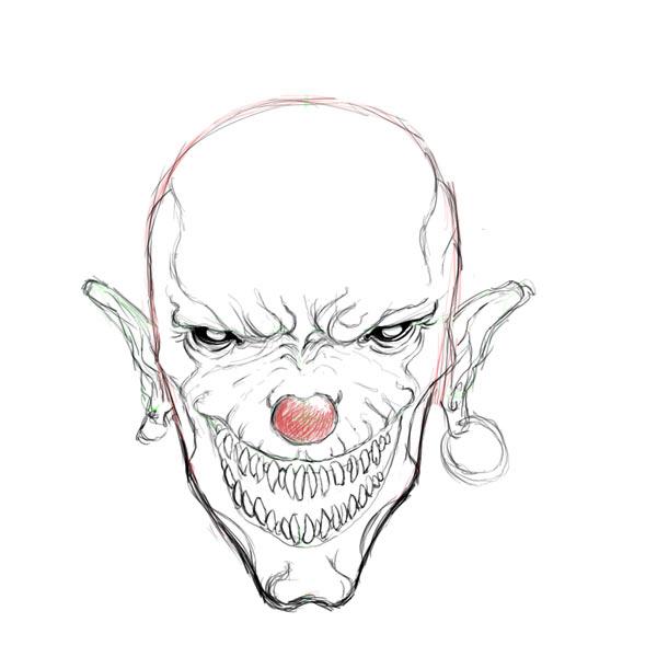 Drawn clown Clown clown Factory drawings Evil