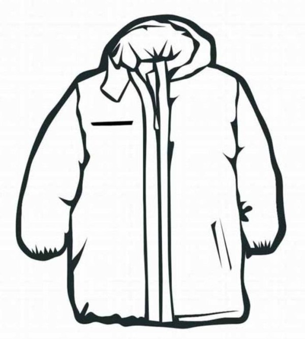 Drawn coat For coloring Preschool page Worksheets
