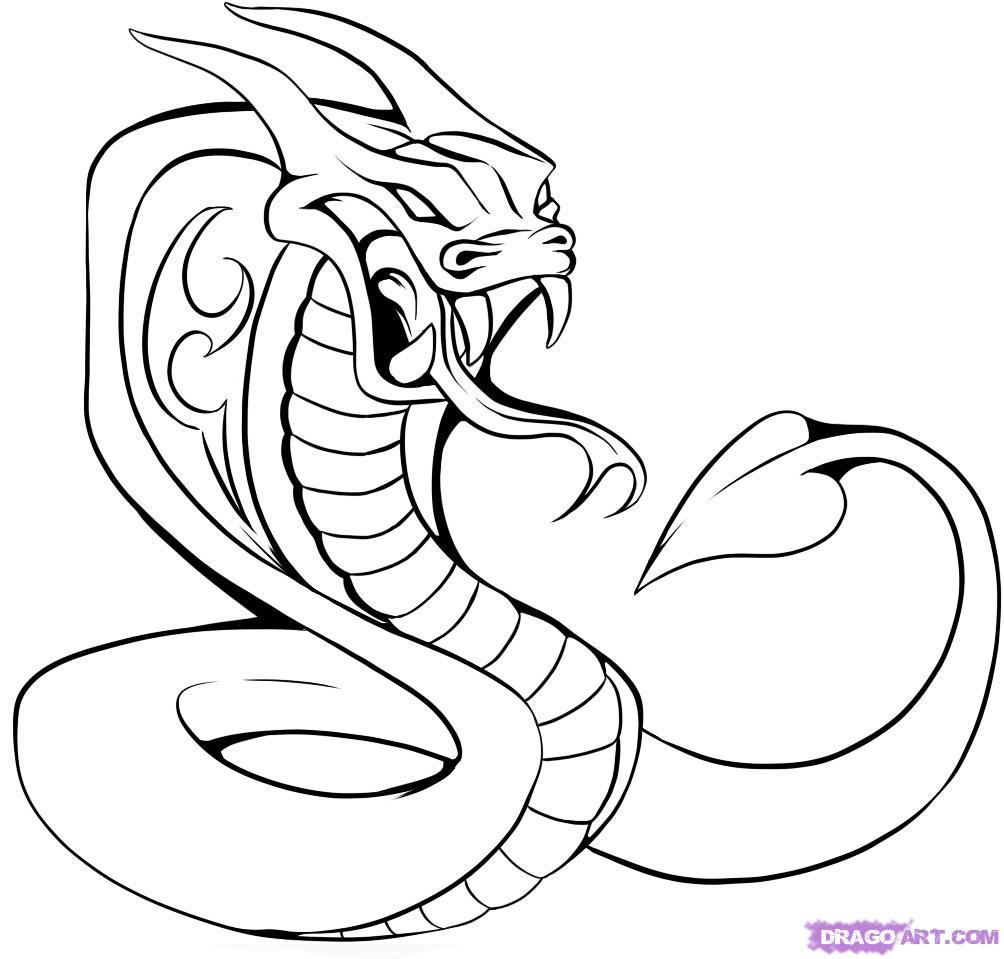 Drawn cobra Pop how to Step Draw
