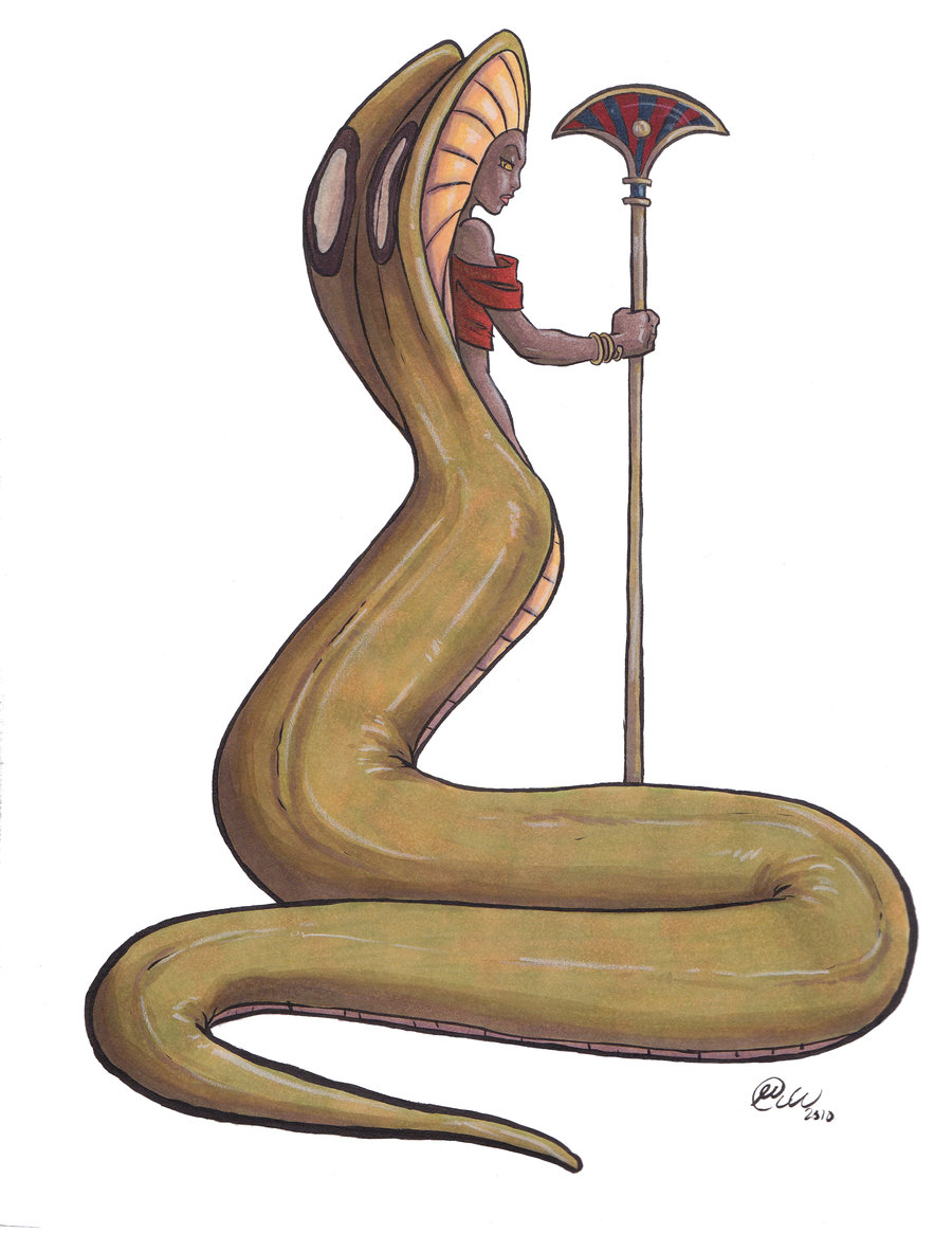Drawn snake egyptian cobra Egyptian on Cobra by by