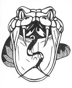 Drawn snake open mouth Atelier Snake Tattoo DeviantArt Tattoo