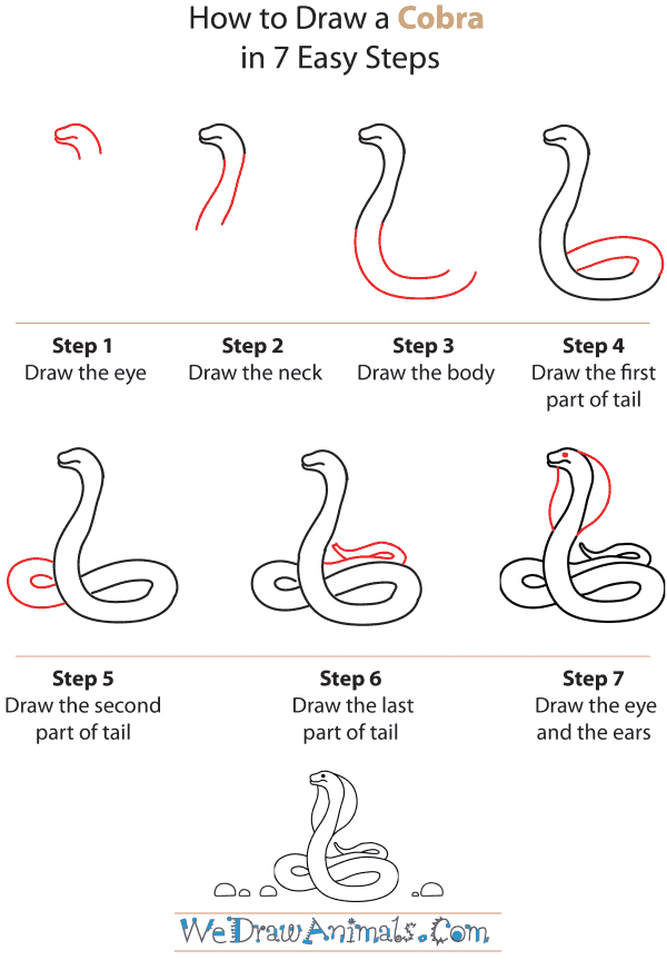Drawn snake spitting cobra By to Cobra Tutorial How