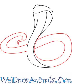 Drawn snake spitting cobra How BIGGER a Draw King