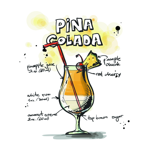 Drawn cocktail Drawn download vector Cocktails Recipes