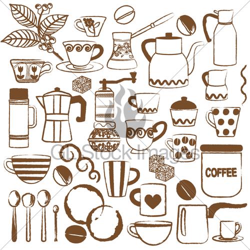 Drawn coffee Symbols Coffee Stock Standard License