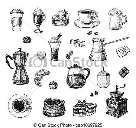 Drawn coffee Coffee coffee Illustration of Coffee