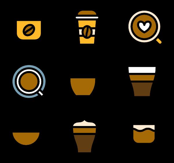 Drawn coffee Icons Coffee free Linear Cups
