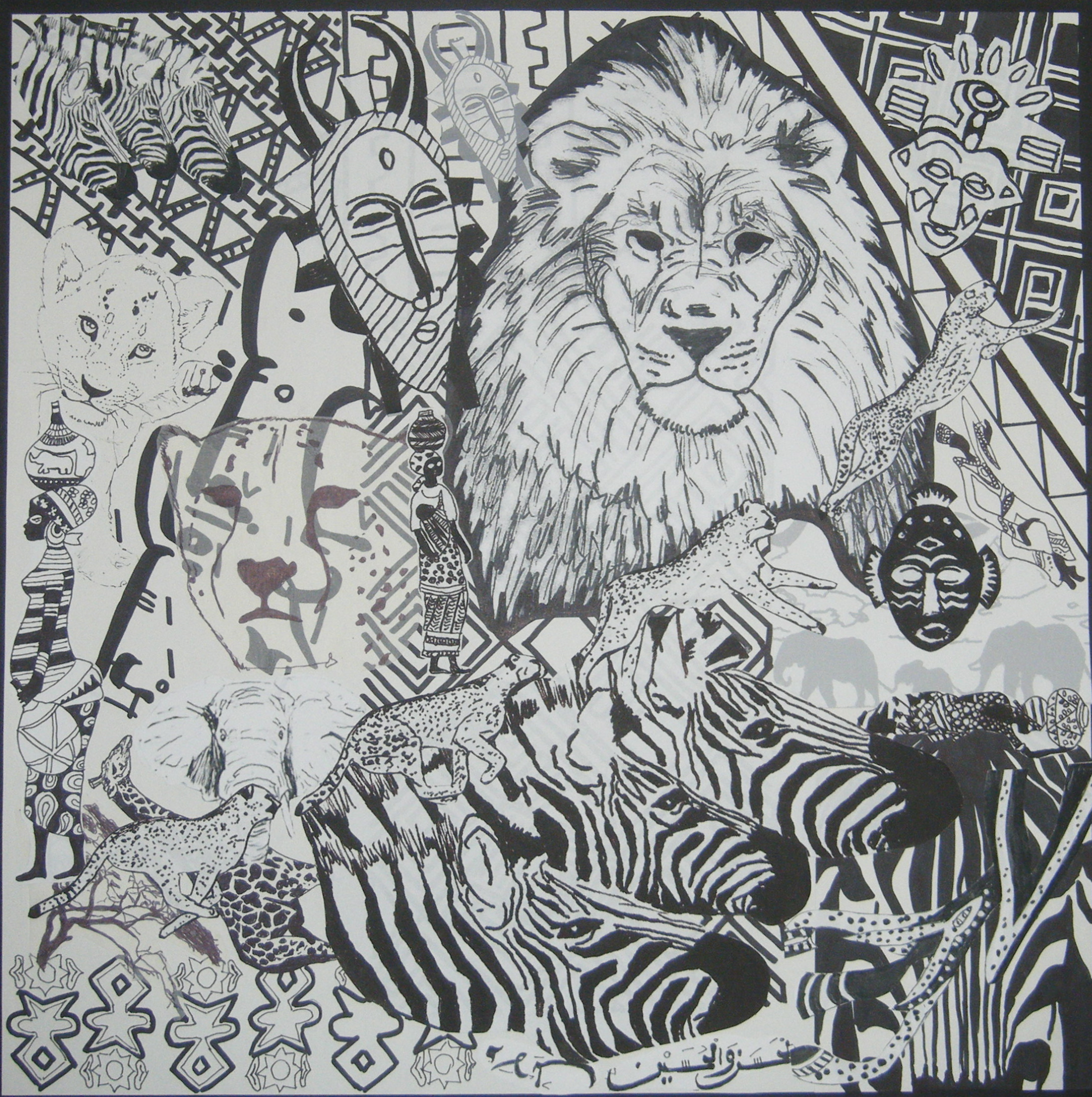 Drawn collage Collage African African kvcollins Collage