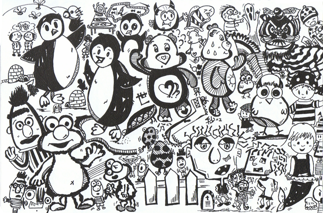 Drawn collage Collage Sketch 2 Page Working