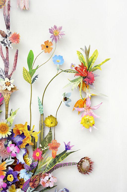 Drawn collage flower #9