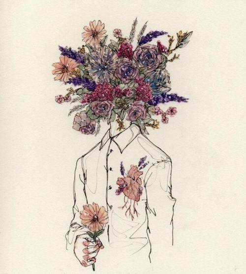 Drawn collage flower #13
