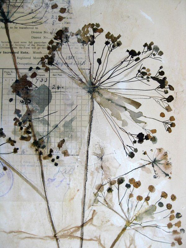 Drawn collage flower #12