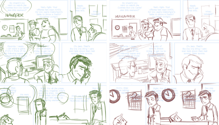 Drawn comic Which layer typically I analogous