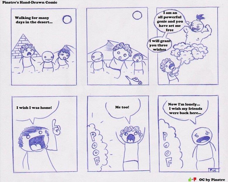 Drawn comic The (Hand Drawn Comic) Genie