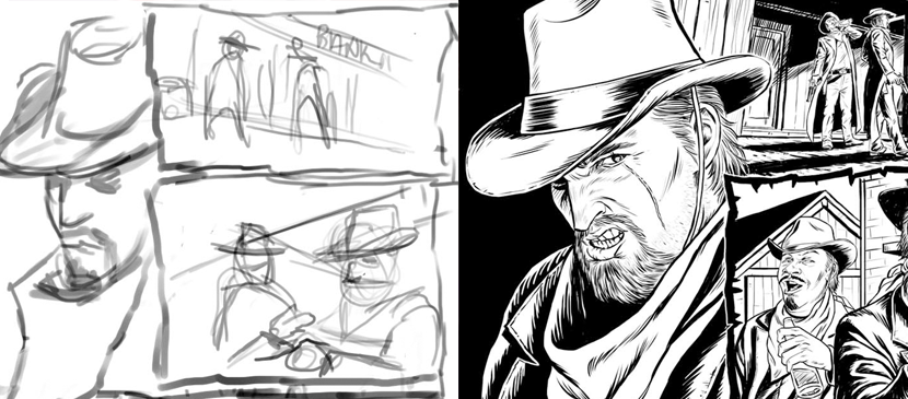 Drawn comics digitally Sketch Painting Digital Photoshop Comic