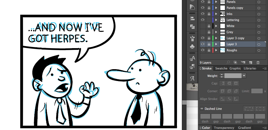 Drawn comics digitally Illustrator I How Illustrator in