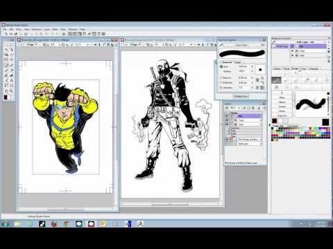 Drawn comics digitally Learn Studio Manga Comics Studio