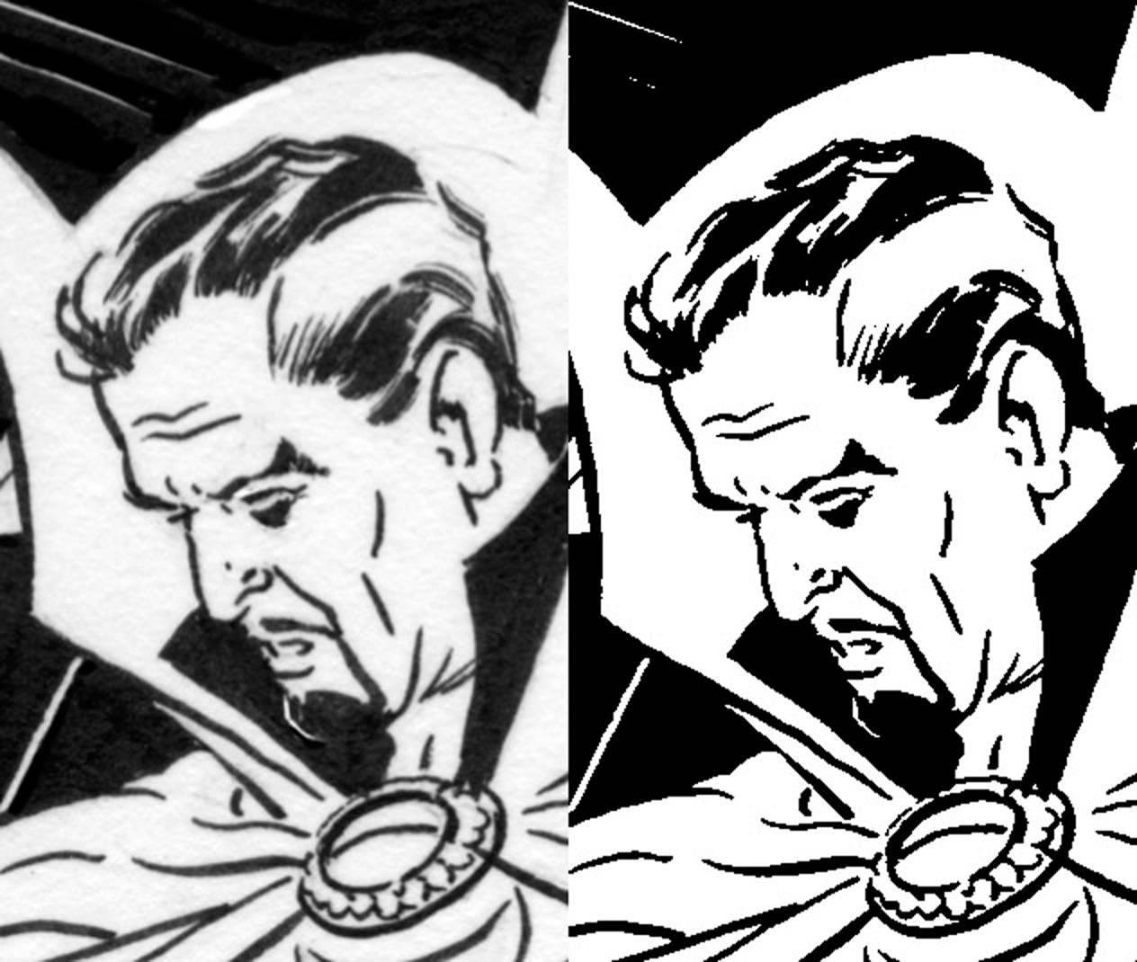 Drawn comics digitally Part scan raw zoom Coloring