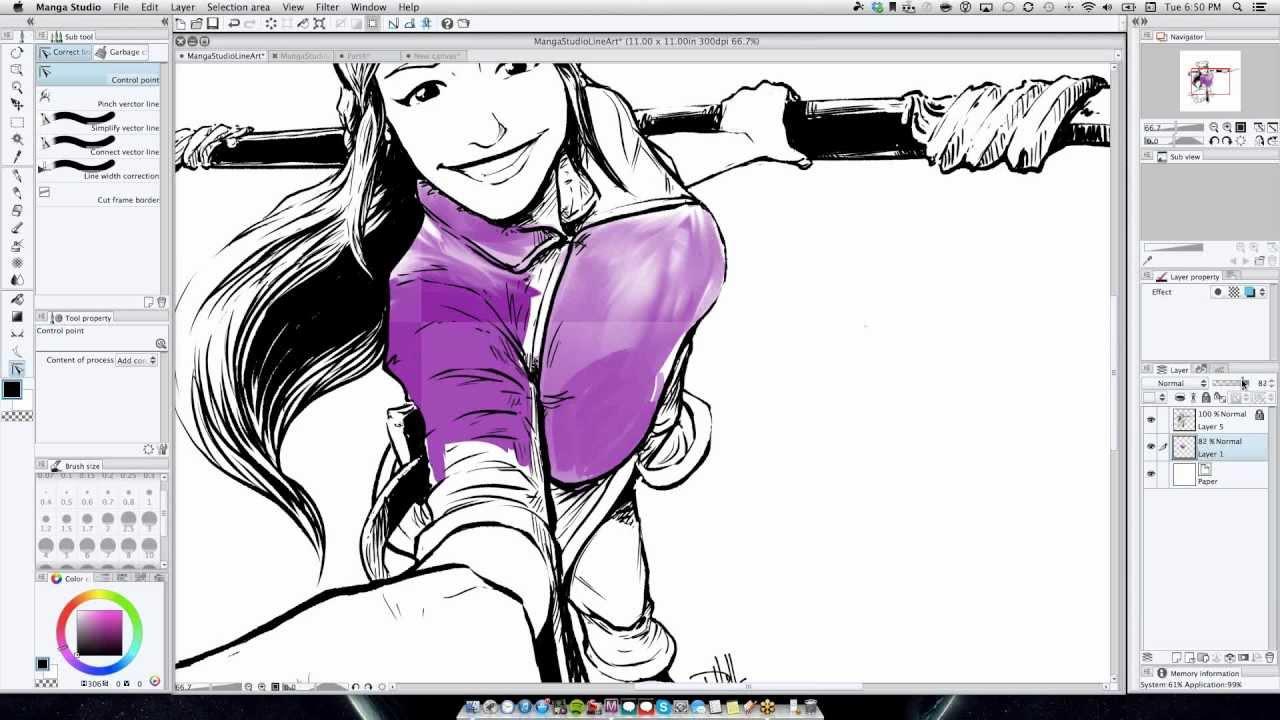 Drawn comics digitally Manga Studio Manga Digital 2