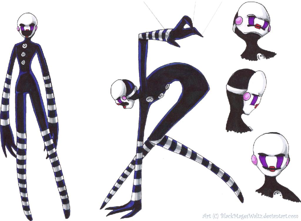 Drawn comics fnaf marionette BlackMagesWaltz FNAF Marionette take Sketches