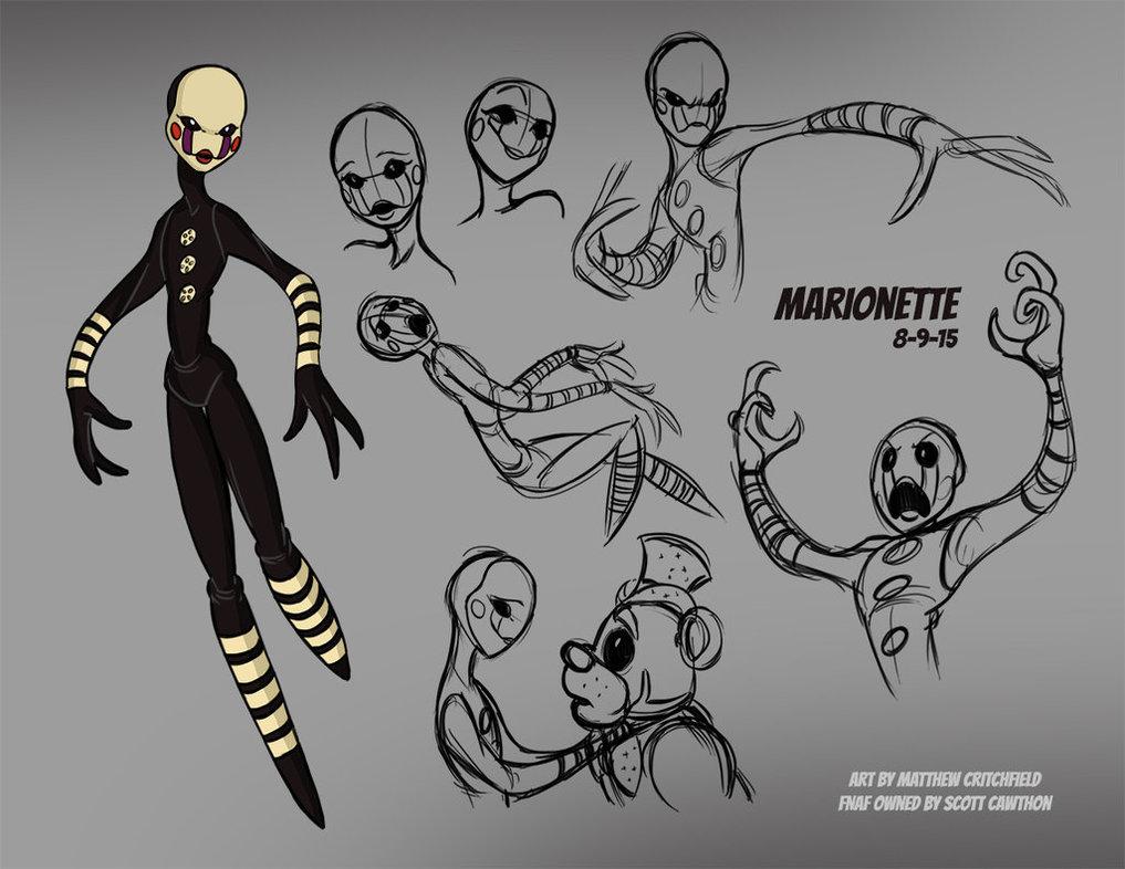 Drawn comics fnaf marionette 15 by Sketches 01 FNAF