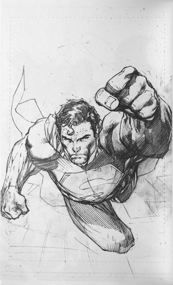 Drawn superman comic art 41 Jim best on Lee