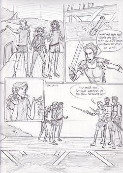Drawn comics percy jackson Love mark strip Big on