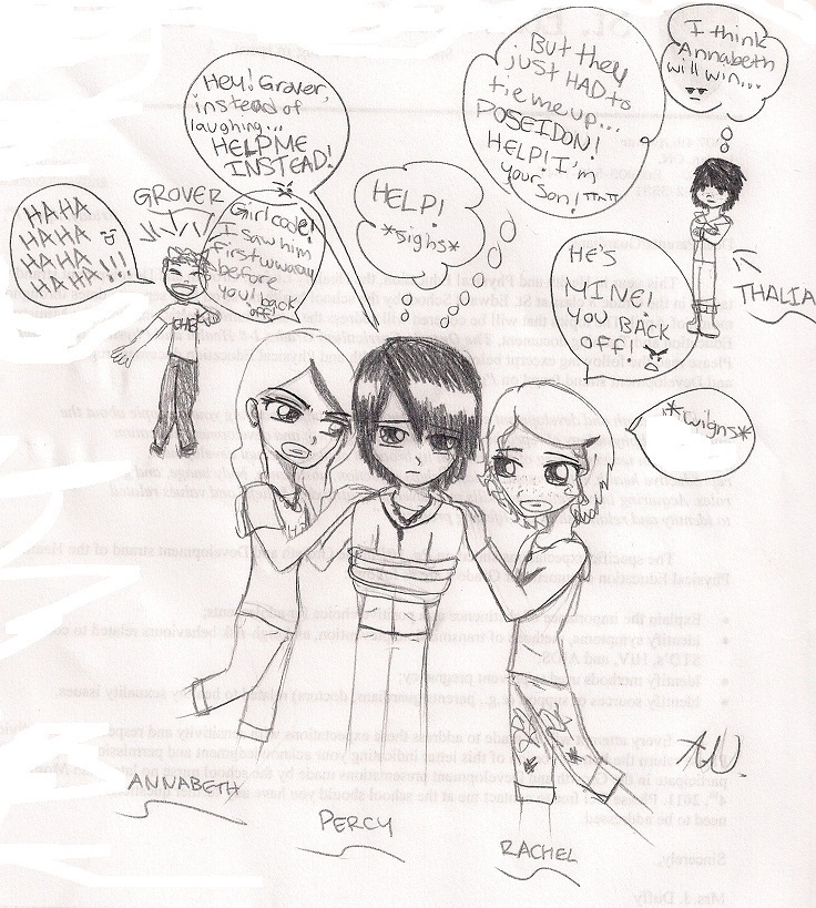 Drawn comics percy jackson Trouble and is Percy olympians