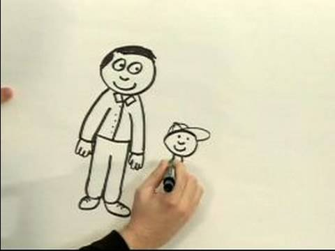 Drawn caricature guy  YouTube Cartoon a How