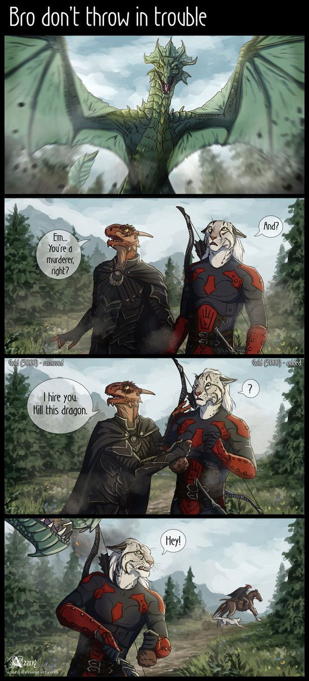 Drawn comics skyrim My images to Elder argonian