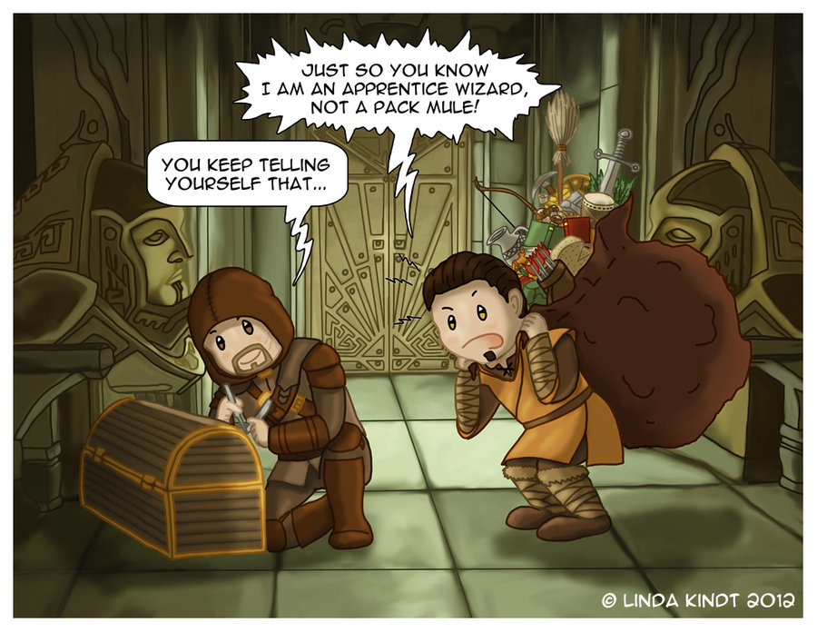 Drawn comics skyrim Bron by DeviantArt Meme: Skyrim