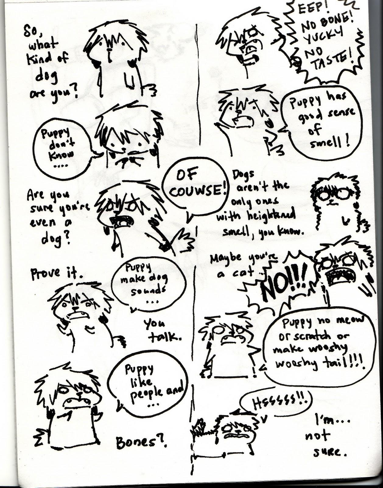 Drawn comics well Quite comics Puppy Stop: of