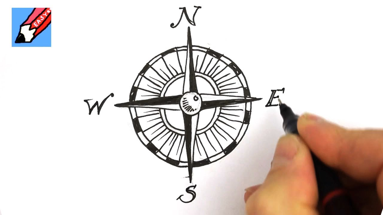 Drawn watch cartoon Draw compass  to design