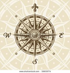 Drawn compass ancient Compass Other  compass rose