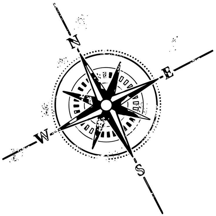 Drawn compass basic Distressed compass / on Mandala