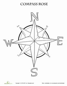 Drawn compass basic Compass Page Rose and rose