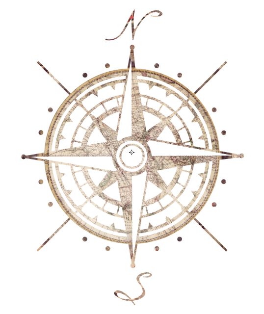Drawn compass cartography Science/geology Cole's Search compass print