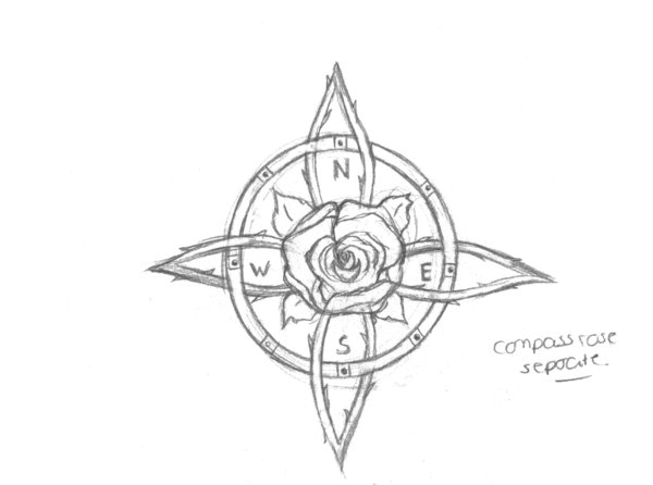 Drawn compass celtic Art Compass by 2014 drawings