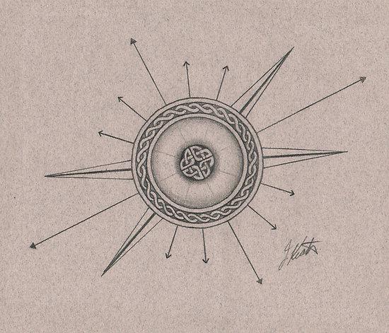 Drawn compass celtic Compass ideas rose  Compass