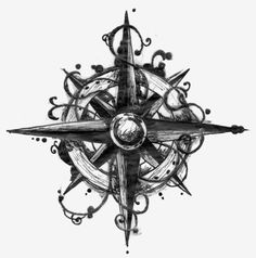 Drawn compass celtic Tattoo Compass celtic and Pinterest