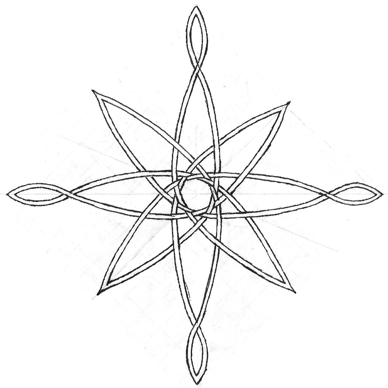 Drawn compass celtic Rose com deviantart deviantart sketch