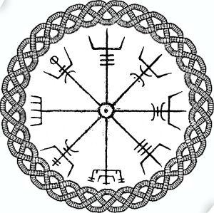Drawn compass celtic Geocoins Forums ruins Celtic Geocaching