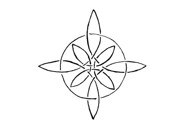 Drawn compass drawing Rose Compass knot by altocello