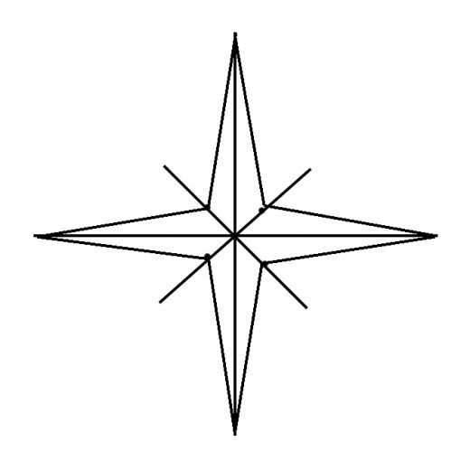 Drawn compass drawing The Draw sides of a
