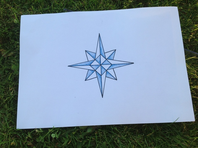 Drawn compass easy Beautiful a to How Rose