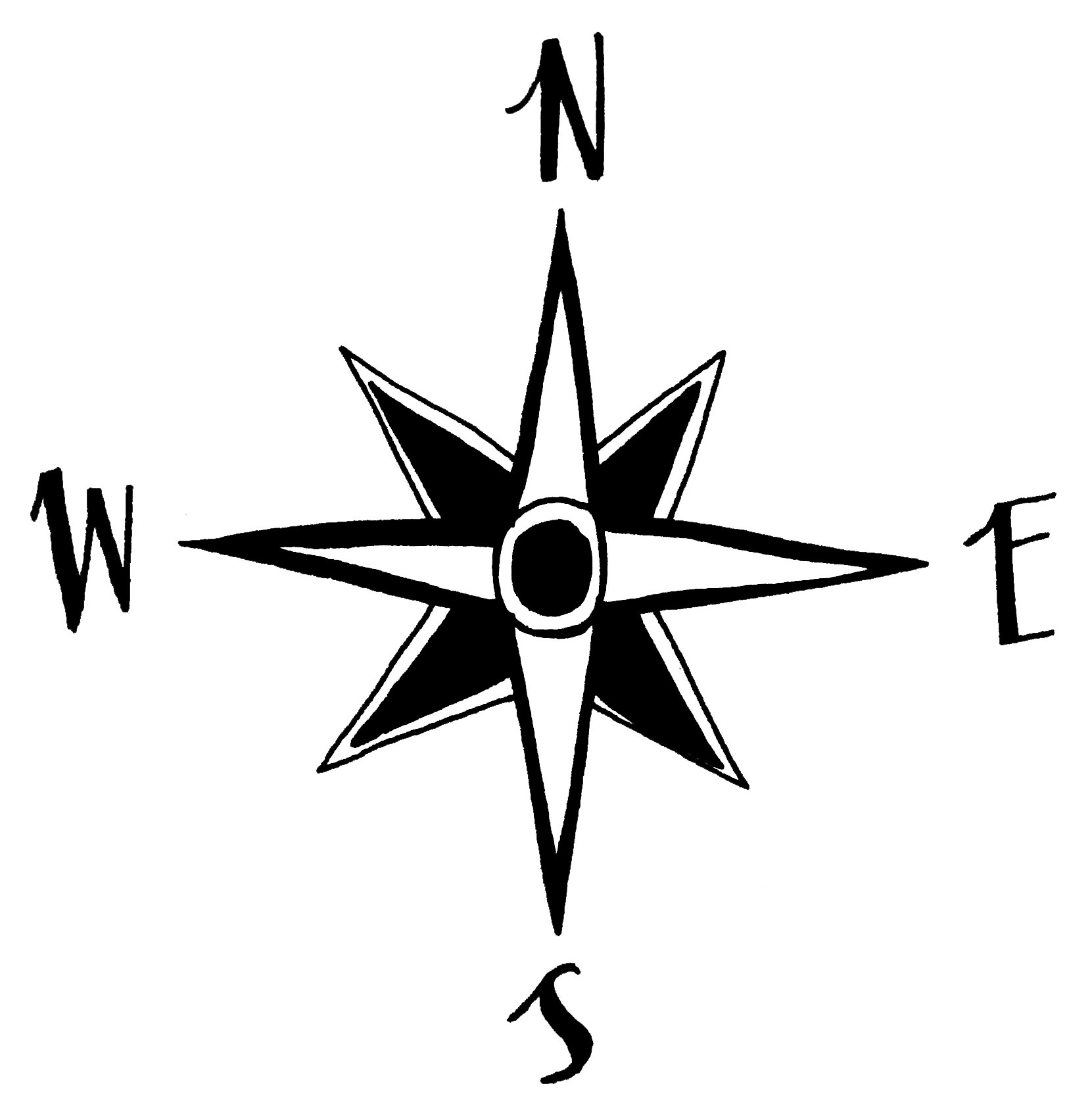 Drawn compass easy COMPASS Arrows Map Hand COMPASS2