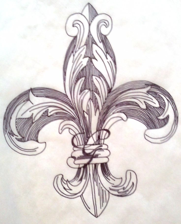 Drawn compass fleur de lis Tattoo! Pinterest lis on Fleur